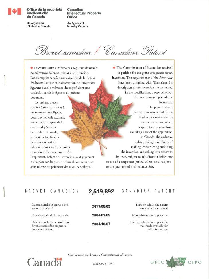 Kanada-patent